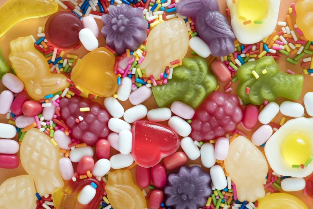 Different shapes of gummies